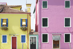 Colorful houses at the island of Burano, Venice, Italy Royalty Free Stock Image