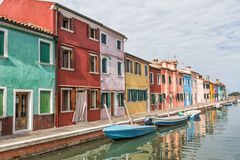 Colorful houses on the island of Burano Royalty Free Stock Photography