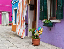 Colorful Houses  in Italy Royalty Free Stock Images