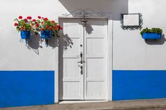 Colorful houses in Jardin, Antoquia, Colombia. Colorful houses in colonial city Jardin, Antoquia, Colombia, South America Royalty Free Stock Image