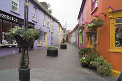Kinsale, Ireland. Colorful houses, flower pots,  Kinsale, Ireland Royalty Free Stock Images