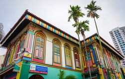 Colorful houses in Little India, Singapore Stock Image