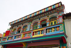 Colorful houses in Little India, Singapore Royalty Free Stock Photography
