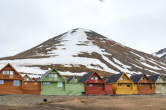 Colorful houses in Longyearbyen, Svalbard Royalty Free Stock Photo