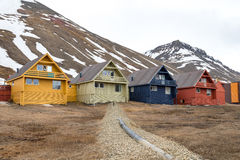 Colorful houses in Longyearbyen, Svalbard Stock Photography