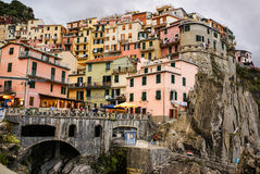 Colorful houses of Manarola Cinque Terre Stock Photo