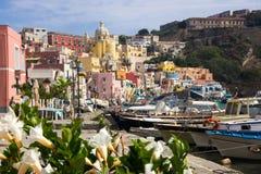 Procida Island on Neapolitan Bay in Italy royalty free stock photo
