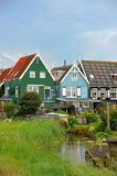 Colorful houses in Marken, the Netherlands Stock Images