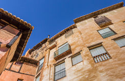 Colorful houses of medieval city Albarracin Stock Photography