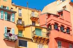 Colorful houses of Menton. Royalty Free Stock Image