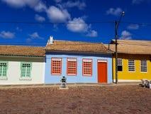 Colorful houses from Mucuge, Bahia, Brazil. Colorful houses from center of Mucuge, Chapada Diamantina, Bahia, Brazil stock photo