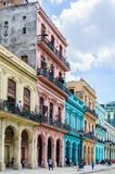 Colorful houses near Capitolio in Havana, Cuba. Colorful houses near Capitolio in Havana, the capital of Cuba Royalty Free Stock Images