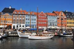 Colorful houses of nyhavn, copenhagen's landmark Stock Photos