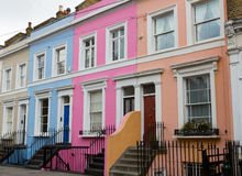 Colorful houses off of Portobello Road Royalty Free Stock Photo