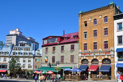 Colorful Houses in Old Quebec City, Canada Stock Image