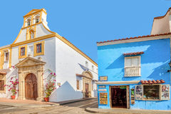 Colorful houses in the old town Cartagena, Colombia Stock Photography