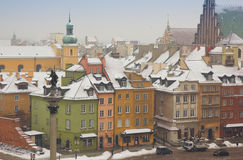 Colorful houses of old town, Warsaw, Poland Royalty Free Stock Images