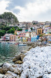 Colorful houses of Parga Royalty Free Stock Photography