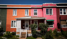 Colorful Houses in the Poor Trois-Riviere Area Royalty Free Stock Photo