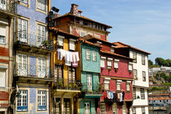 Colorful houses in Porto Stock Photos
