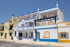 Colorful houses in Portugal Royalty Free Stock Photography