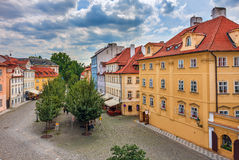 Colorful houses in Prague. Royalty Free Stock Photo