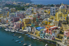 Colorful houses of procida italy Royalty Free Stock Photography