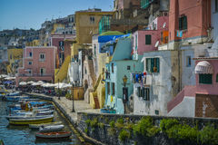 Colorful houses of procida italy Stock Image