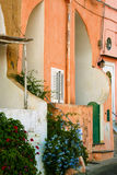 The colorful houses of Procida stock image