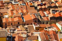 Colorful houses and red roofs Stock Photography