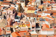 Colorful houses and red roofs Stock Image