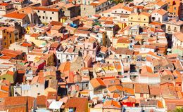 Colorful houses and red roofs Stock Images