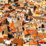 Colorful houses and red roofs Royalty Free Stock Photography