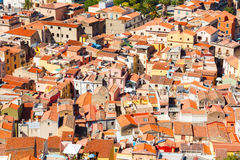 Colorful houses and red roofs Stock Photo