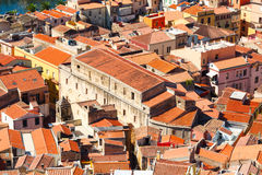 Colorful houses and red roofs Royalty Free Stock Image