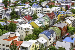 Colorful houses in Reykjavik royalty free stock images