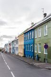 Colorful houses, Reykjavik, Iceland Royalty Free Stock Photos