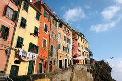 Colorful houses of Riomaggiore Royalty Free Stock Images