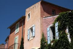 Colorful houses in Roussillon Royalty Free Stock Image