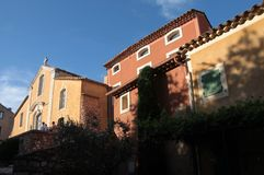 Colorful houses in Roussillon Royalty Free Stock Photo