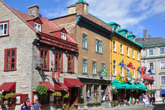 Colorful Houses on Rue Saint Louis, Quebec City Royalty Free Stock Photo