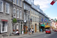 Colorful Houses on Rue Saint Louis, Quebec City Royalty Free Stock Image