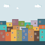 Colorful Houses For Sale / Rent. Real Estate Royalty Free Stock Image