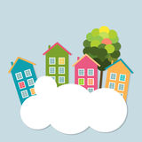 Colorful Houses For Sale / Rent. Real Estate Concept Stock Image