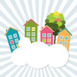Colorful Houses For Sale / Rent. Real Estate Concept Royalty Free Stock Images