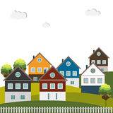 Colorful Houses For Sale / Rent. Real Estate Concept. Stock Photography
