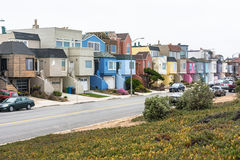 Colorful houses in San Francisco Stock Photography