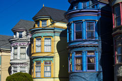 Colorful houses in san francisco Royalty Free Stock Photo