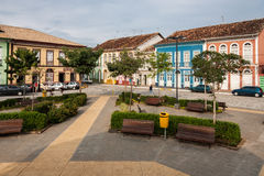 Colorful Houses in Sao Luis do Paraitinga Stock Photo