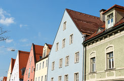 Colorful houses in Schongau, Germany Royalty Free Stock Image
